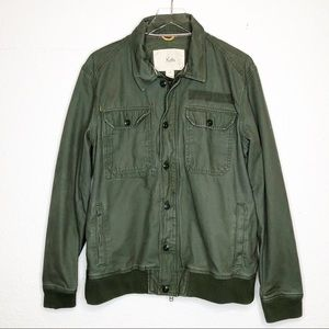 Koto | Green Button Down Bomber Jacket Size Large